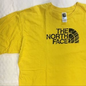 The north face yellow T-shirt XXL